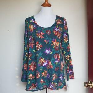Lularoe Lynnae Large NWT floral tunic top